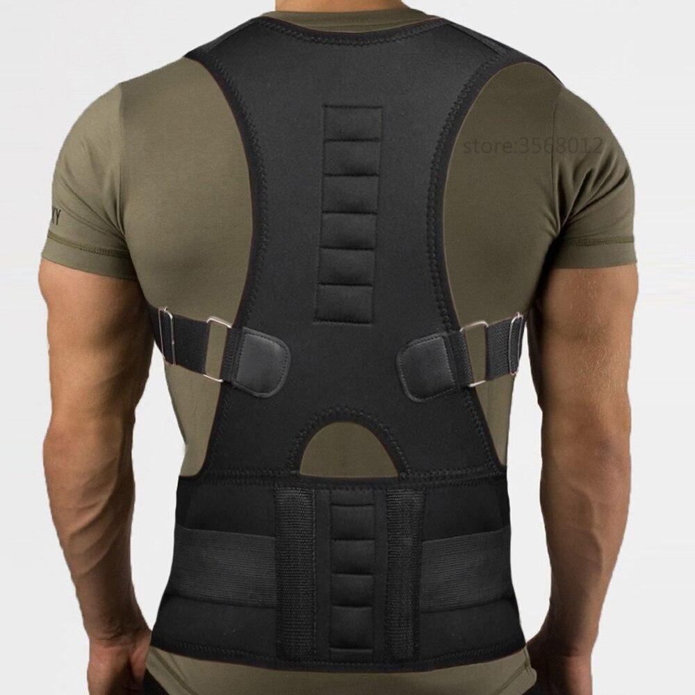 Adjustable Upper Back Shoulder Posture Corrector Adult Children Corset Spine Brace Back Magnetic Belt Orthotics Support Belt Men