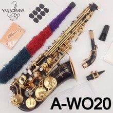 Новый бренд YANAGISAWA альт саксофон A-WO20 черный лак Профессиональный альт саксофон черный никель золото с чехлом Рид шеи мундштук