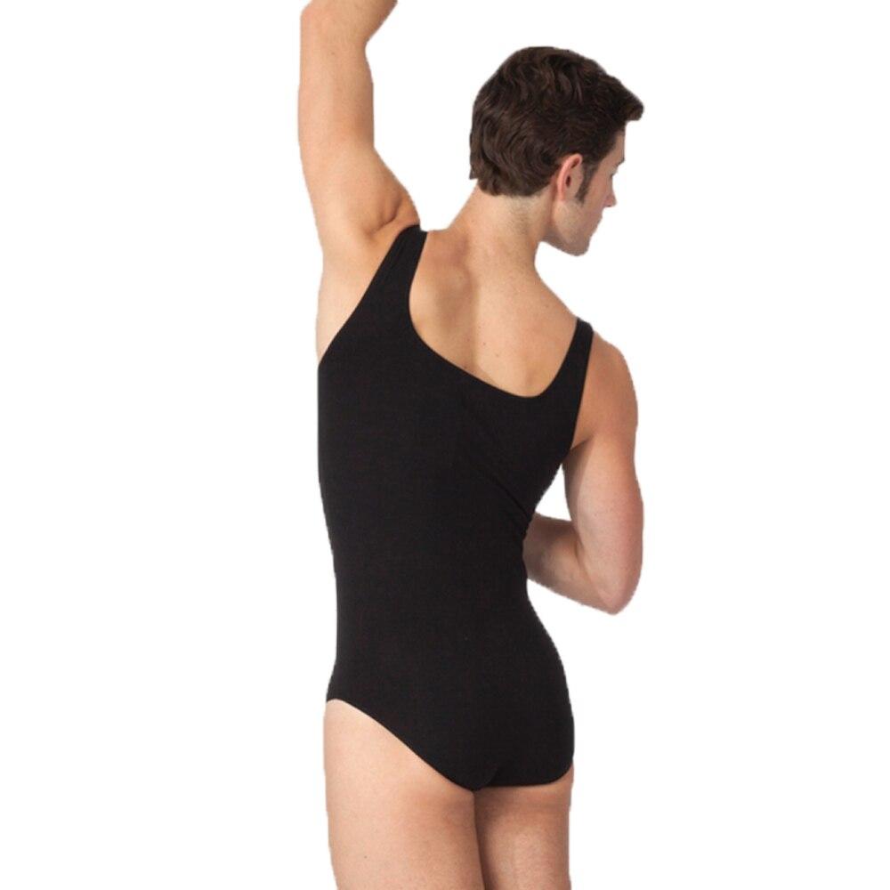 ICOSTUMES Black Mens Dance Tank Leotard Boys Sleeveless Ballet Leotards Lycra Spandex Bodysuits Workout Leotards For Male Dancer