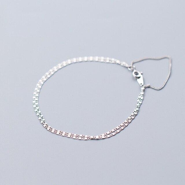 Фото многослойные браслеты 925 серебряные ювелирные изделия длинный