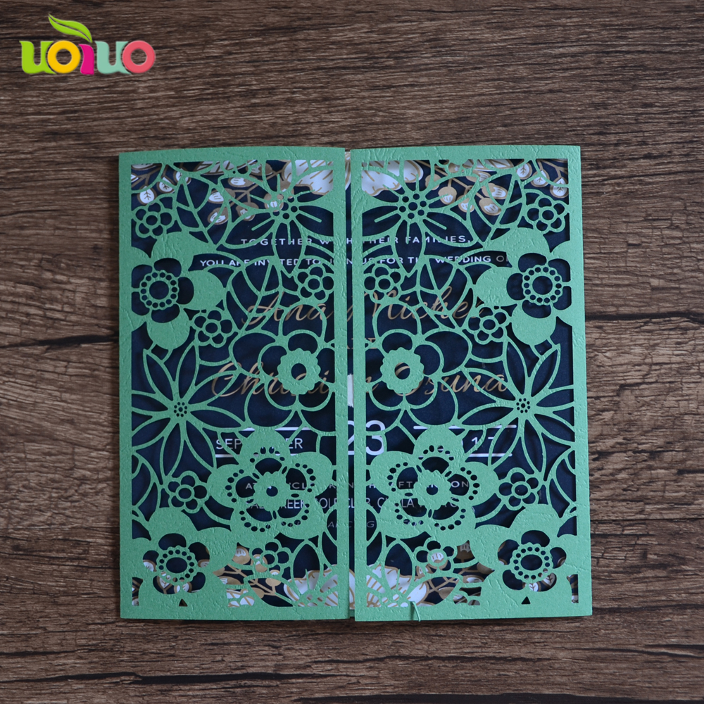 High Grade Elegant Flower Invitation Card Wedding Gift Favorate Lace