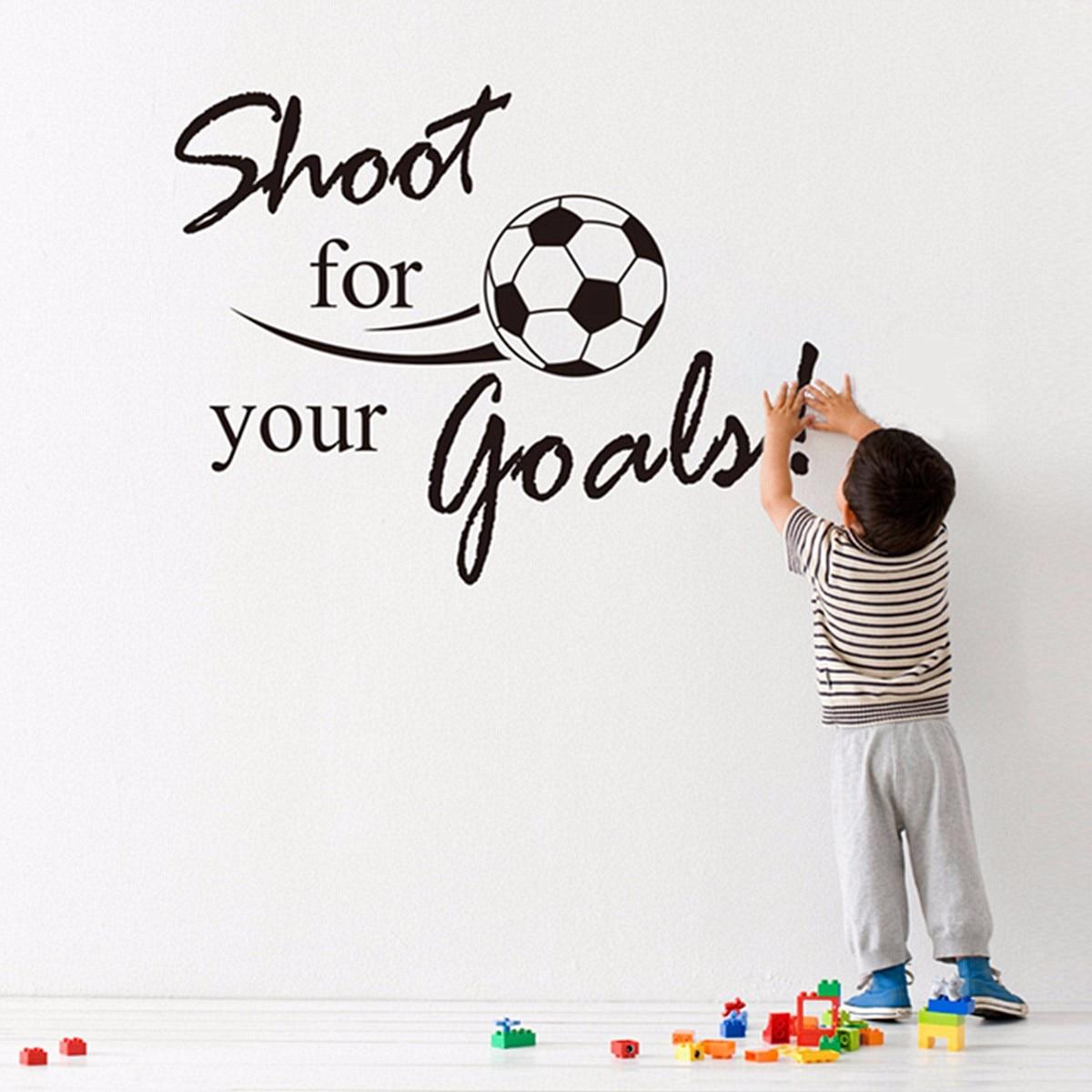 Sparare per I Tuoi Obiettivi di Calcio Wall Stickers per le Camere Dei Bambini Soggiorno Camera da Letto del Ragazzo Decor FAI DA TE Parete Del Vinile di Arte decalcomanie Regalo