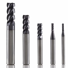 GM-4E tungsten steel 4 flute square head coated end mill cnc milling cutter cutting tools for metal machining profile HRC45