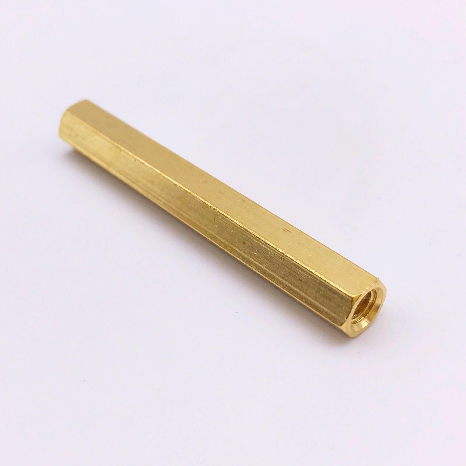 M5 Spacer Female Brass Nuts Hex PCB Standoff Threaded Pillar плавкий предохранитель roc 50 m5 spacer