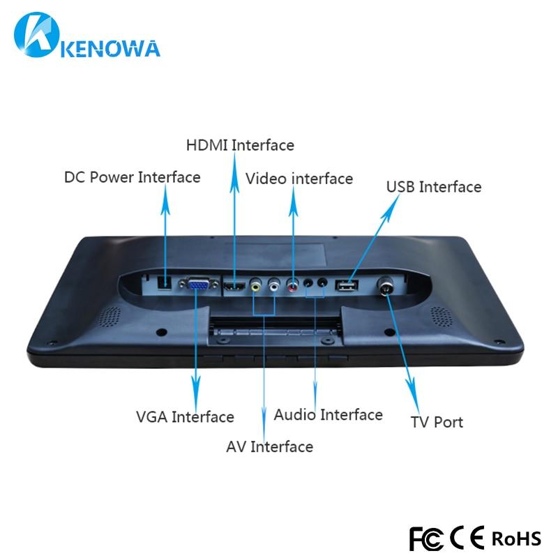 13,3 дюймов мониторинг HD 1366X768 ЖК-дисплей Экран Панель PS3 PS4 Xbox360 Дисплей монитор HDMI/VGA/AV /USB для Raspberry Pi Windows 7 8 10