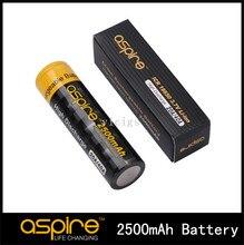 Aspire 18650 batería original super alta de descarga 2600 mah 20a batería icr 18650 3.7 v li-ion batería para cigarrillo electrónico 2 unids/lote