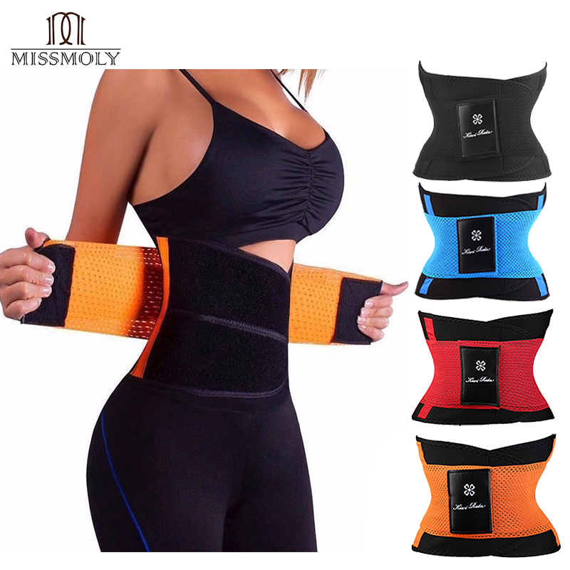 Miss Moly Sweat Belt Modeling Strap Waist Cincher For Women Men Waist Trainer Belly Slimming Belt Sheath Shaperwear Tummy Corset adapter