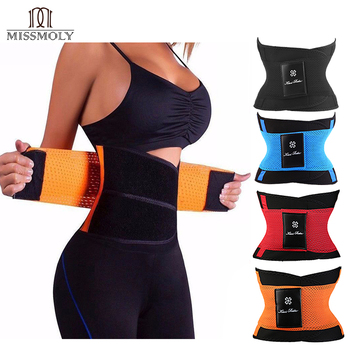 Miss Moly pas odchudzający pasek modelujący pas wyszczuplający w talii dla kobiet mężczyzn gorset waist trainer brzuch pas wyszczuplający pochwa Shaperwear brzuch gorset tanie i dobre opinie spandex Poliester NONE STANDARD WOMEN Czopiarki Body Shaper Belt Satin Firma Talia cinchers Black Blue Red Orange United States China