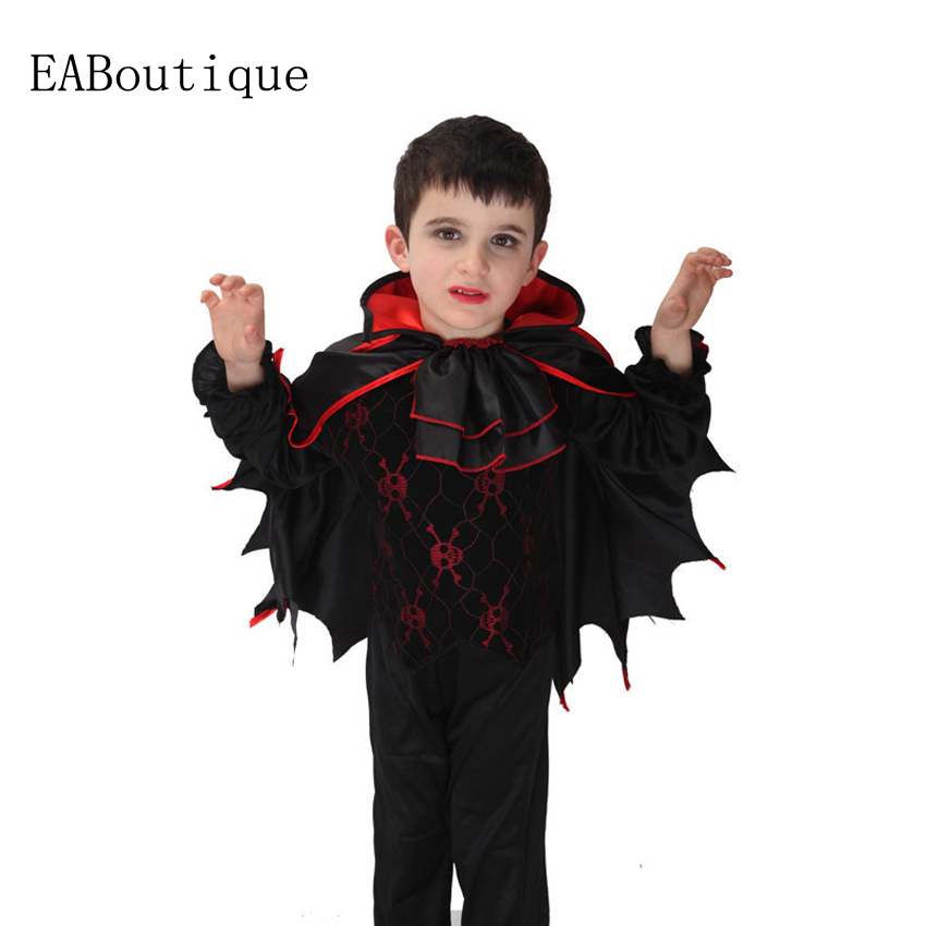 2016 Hot sale high quanlity Retail New Halloween vampire halloween costumes for kids boys costumes 3 pcs sets gift american vampire vol 3