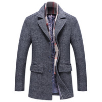 Male High Quality Fashion Cardigan Long Trench Coat Jacket trench long coat men long jacket of men Smart Casual Stylish Trench