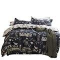 Svetanya 800TC Cotton Bedlinen twin full double queen king size Bedding Set with Arts Pattern duvet cover sheet pillowcase