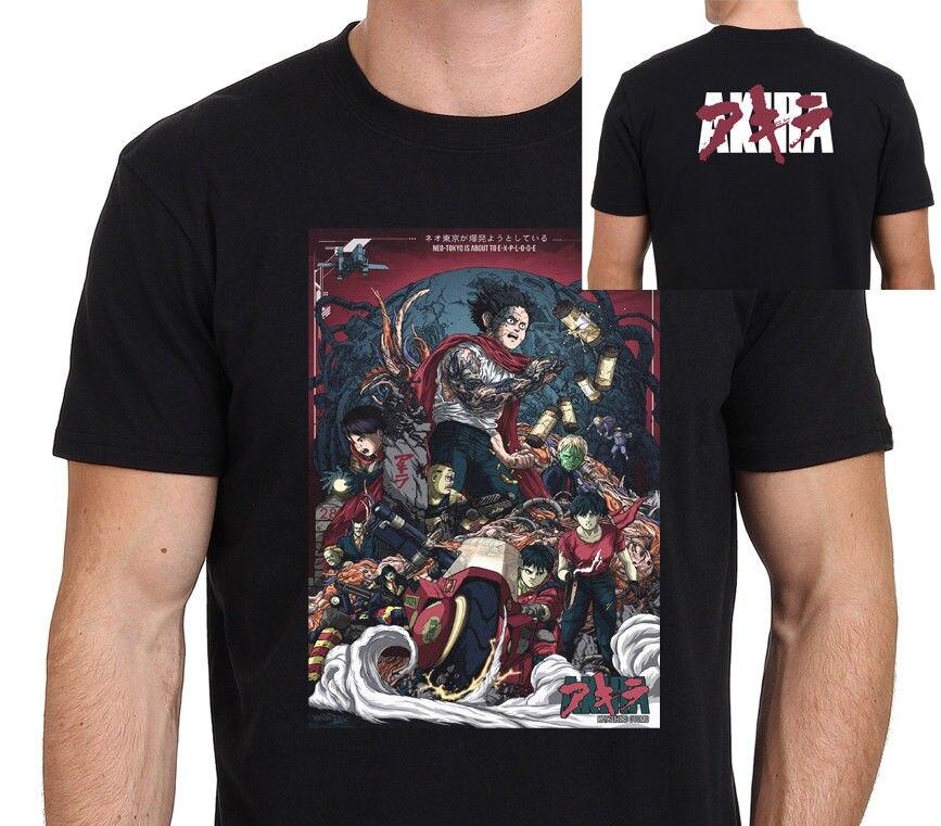 2019 летняя футболка с круглым вырезом Акира видеоигра культ анимированные 80 s Sci Fi фильм Мужская футболка Черная горячая Распродажа футболка