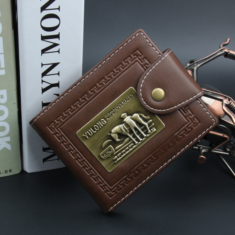 2016 New Men Brand Wallets Quality PU Leather Brwon Purse with Zipper Bag Card Holder Multifunction Male Billfold Free Shipping  new fashion men wallet pu leather purse handbags for male luxury brand black no zipper men clutches free shipping card holder
