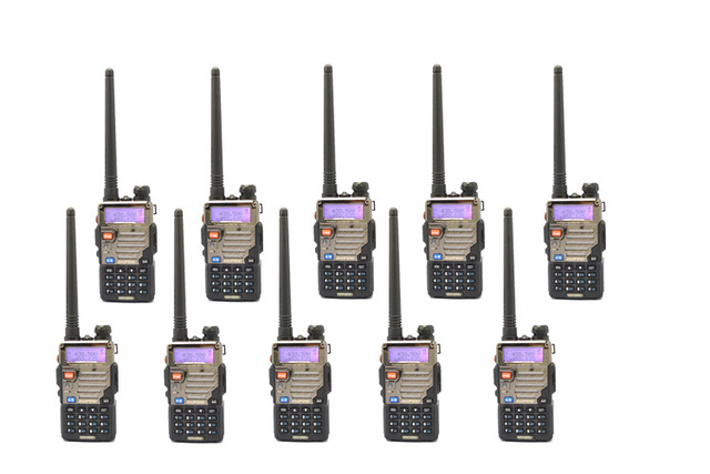 10 PCS Baofeng UV-5RE For Police Walkie-Talkie Scanner Radio Dual Band Cb Ham Radio Transceiver UHF 400-470MHz & VHF 136-174MHz