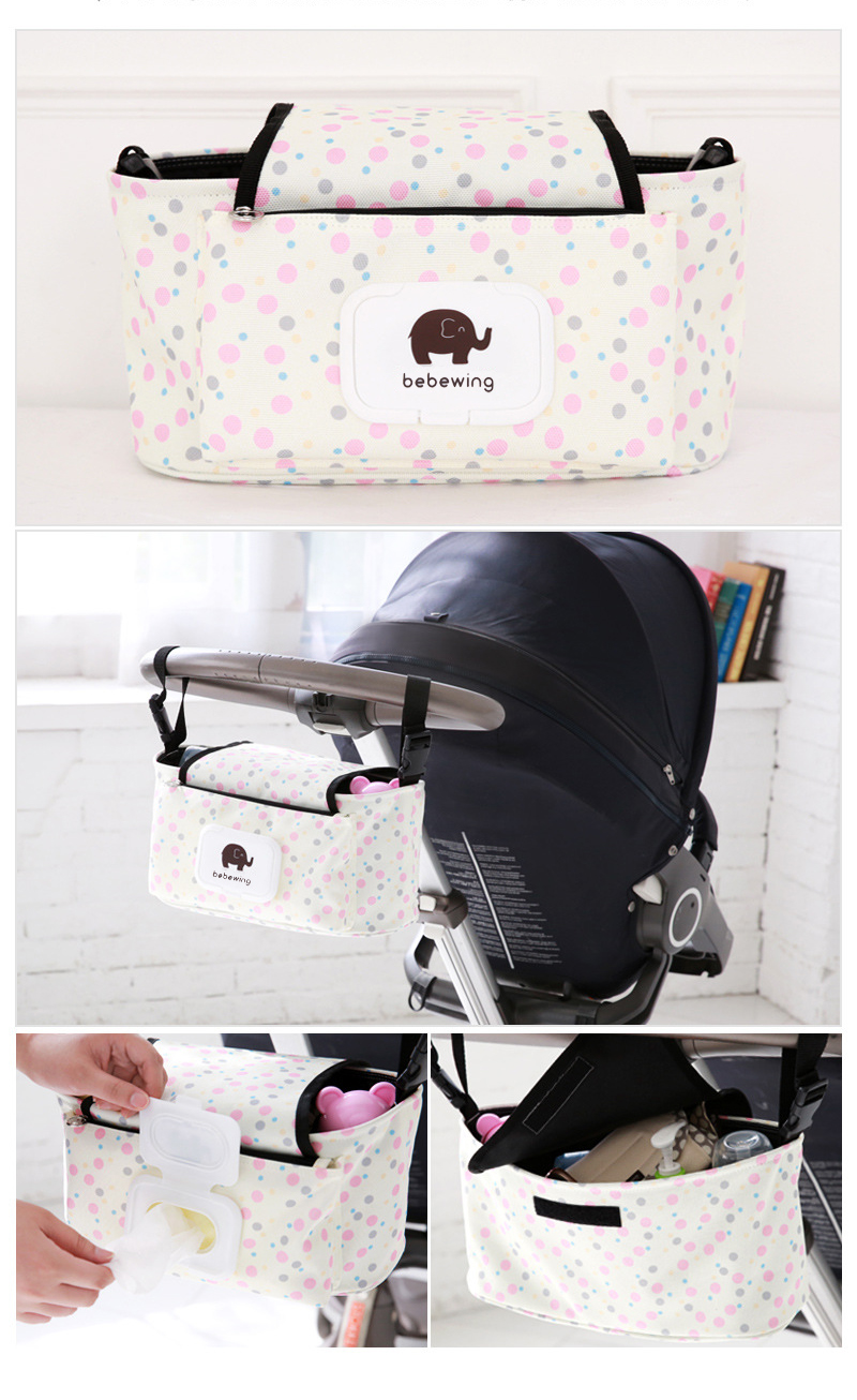 HTB1NDqrXinrK1Rjy1Xcq6yeDVXaA Baby Stroller Organizer Bag with Tissue Pocket and Cup Holders Extra-Large Storage Space Baby Stroller Accessories Bag Nappy Bag