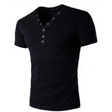 MenS T-Shirt 2017 New Brand Men Cotton V-Neck Fashion Short-Sleeved Bottoming Shirt Casual Undershirt Top Tee
