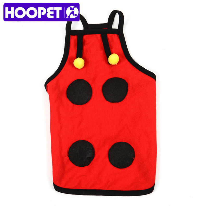HOOPET New Pet Coat Dog Jacket Summer Spring Clothes Puppy Kitty Cat Sweater Clothing Coat Apparel Cute Ladybug Design