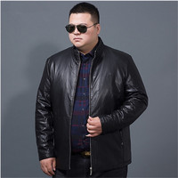 big size 8XL Men Leather Jacket Genuine Real Sheep Goat skin Brand Black Male Bomber Motorcycle Biker Man's Coat Autumn Spring