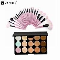 Professional 15 Colors Contour Face Cream Makeup Cosmetic Concealer Palette Make Up Kits 22pcs Maquiagem Makeup
