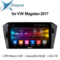 Для Volkswagen Magotan 2017 автомобильный 10,1 ips экран Android 8,1 блок мультимедийное, компьютерное Стерео DVD радио плеер gps навигатор