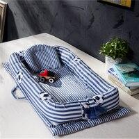 Portable Baby Crib Infant Sleeping Bag Bassinet Basket Baby Travel Bed Bumper Newborn Foldable Sleeper Soft Kids Bed Bedding Set