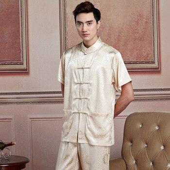 Camisa tradicional china para hombre de Shanghai Story artes marciais, ropa para hombres, camiseta de kimono de kung fu, camisa china de 6 colores