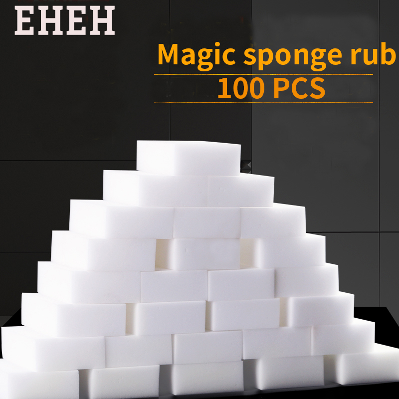 100PCS White Magic Sponge Eraser Rub Melamine Cleaner Multi-Functional Kitchen Bathroom Cleaning Tools Nano Sponge New Arrival