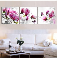Triptych Diy Diamond Embroidery Drill Diamond Painting Wall Art Orchids Decoration Pictures On The Wall Sitting