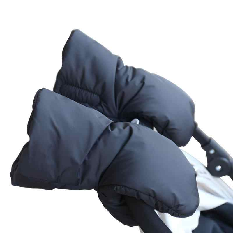 1 Pair Warm Fleece Pram Stroller Gloves Winter Coupler Hand Cart Accessory Gloves Pushchair Hand Muff kids Buggy Clutch