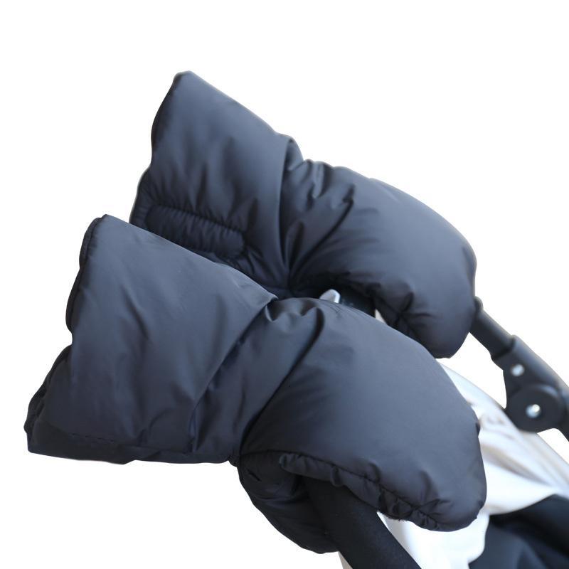 1 Pair Warm Fleece Pram Stroller Gloves Winter Coupler Hand Cart Accessory Gloves Pushchair Hand Muff Kids Buggy Clutch