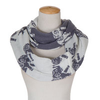Sjaals 2015 Knitted Infinity Scarves For Women Men Winter Warm Neckerchief Double Layers Circle Scarf Elephant