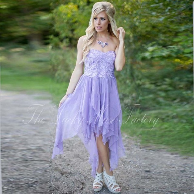 b7b1f3d98f2d5 Modest Country Western Style Light Purple Lavender Lilac Bridesmaid Dresses  2017 Beach Chiffon Simple Wedding Party Formal Wear