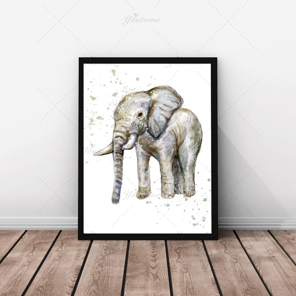 online get cheap modern baby art aliexpresscom  alibaba group - watercolor poster art nursery art print elephant baby modern art babysroomcanvas art posters