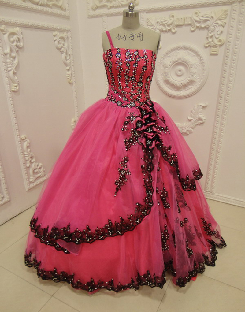 6c1792c3ca Hot Pink And Black Quinceanera Dresses - Gomes Weine AG