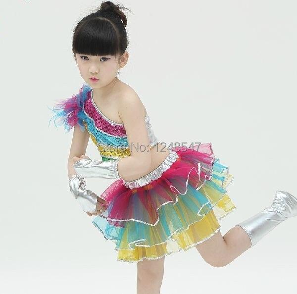 e8385337e48d 2015 New children jazz dance dress kids girl modern dance costume ...