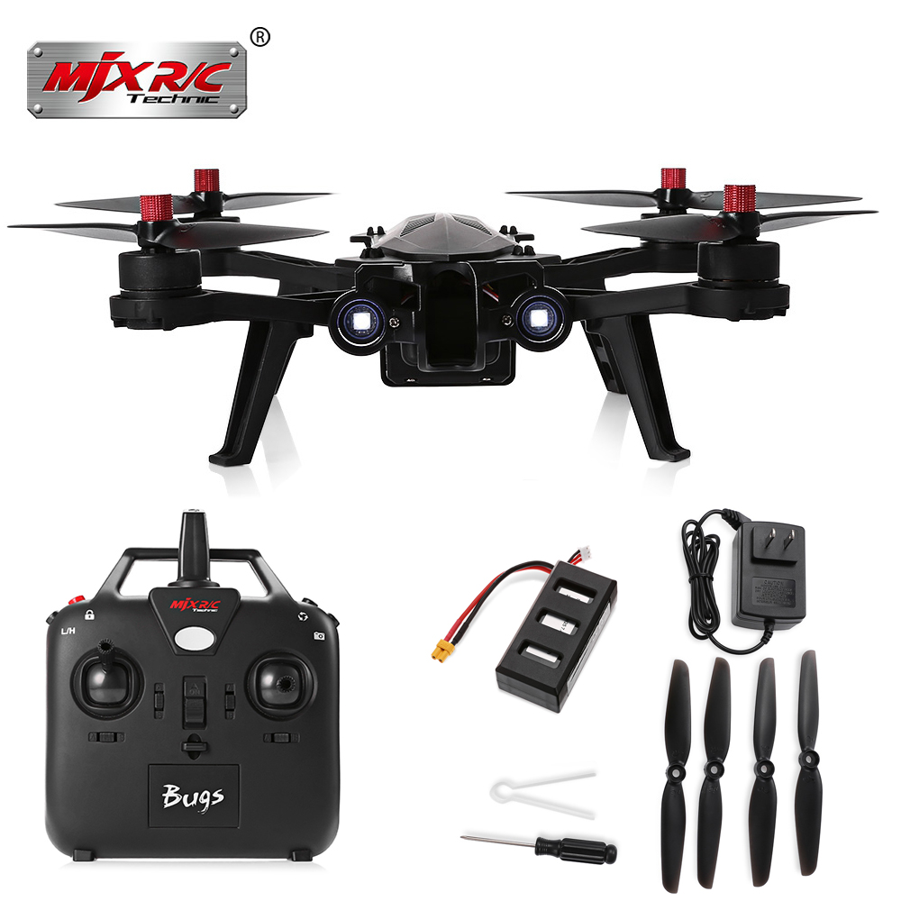 MJX Bugs 6 B6 RC Drone 2.4G Brushless Motor Racing Quadcopter With HD Camera FPV LED Night Flying Helicopters VS BUGS 3 SYMA X8