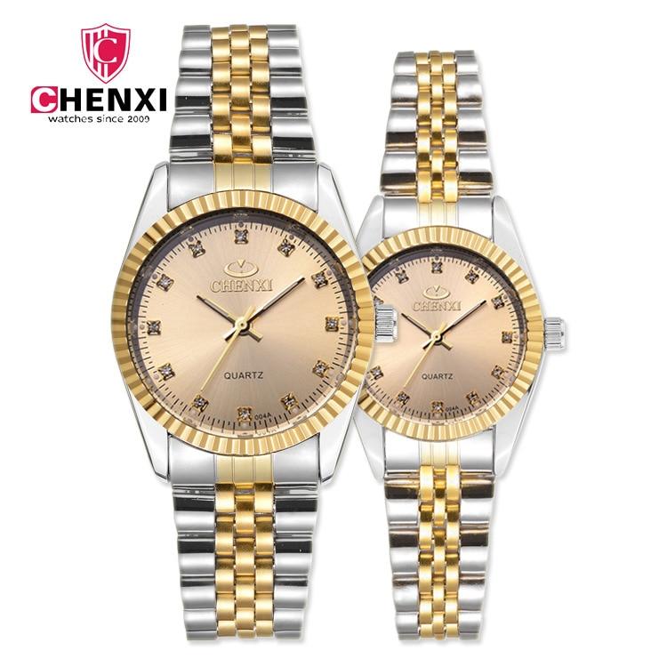 Brand Luxury Lover Watches Quartz Gold Dress Women Men Watch For Couples 2018 New Fashion Wristwatch Relojes Hombre