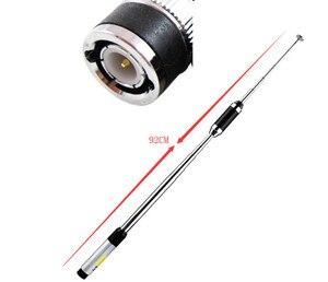 Image 4 - Due segmento di 144/430 MHZ antenna ad alto guadagno pull rod per ICOM IC V85 IC V80 IC V8 per kenwood TK308 Walkie talkie