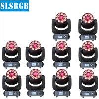 10pcs/lot 9pcs led rgbwa uv wash + 75w led moving head spot washer lighting 2in1 Mini Stage Light 75W Spot 9pcs 6in1 RGBWA+UV