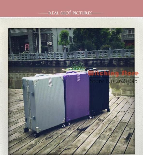 20 INCH 20242629# r fashion retro matte aluminum super anti scratch bag angle trunk men and women travel box #EC FREE SHIPPING