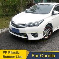 Body Kit Bumper For Toyota Corolla Bumper Lips 2014 2016 Year PP Plastic Lips Spoiler Sport Car Surrounds The Front Lip