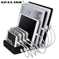 VOXLINK 8 Port Desktop USB Charger Multi-Function 19.2A Charging Station Dock with Stand EU Plug For Mobile phone tablet PC