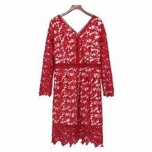 Fashion new spring lace dress xxxxl plus size women