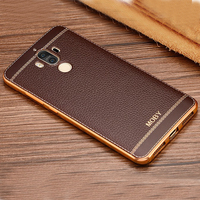 Plating For Huawei Mate 9 Mate9 Kirin960 Cellphone Back Cover Case Soft TPU Clear Protective Cover