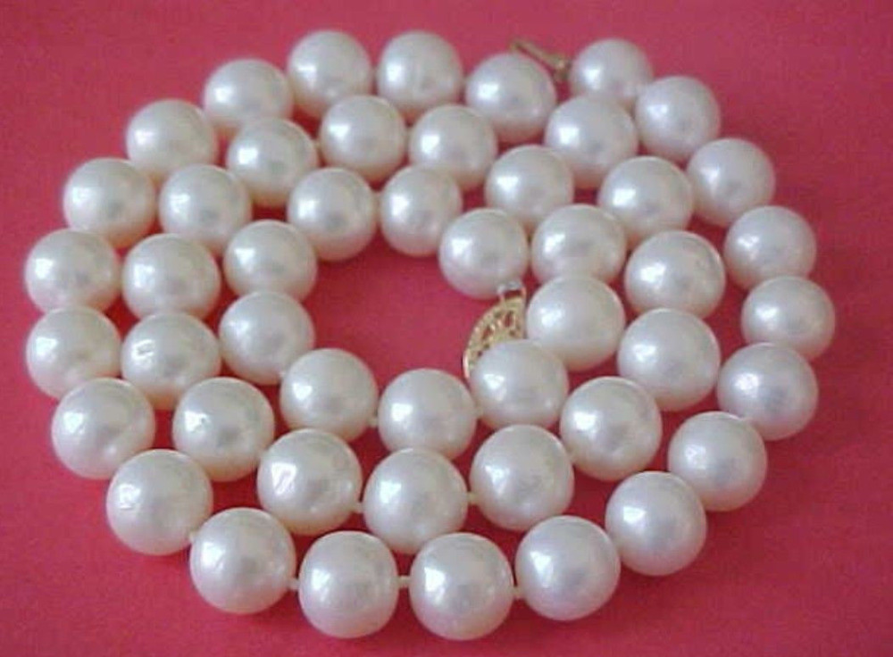 100% natural 12-13mm white baroque freshwater pearl necklace 68>>>hot Sell necklace pendant Free shipping