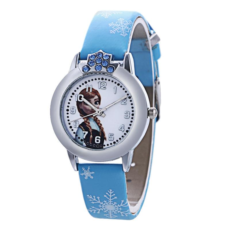 Fashion Brand Cute Kids Quartz Watch Children Girls Leather Crystal Bracelet Cartoon Wrist Watch Wristwatch Clock 8a04 #3