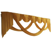 Ice Silk Gold Swag for Wedding Backdrop Decorations Party Curtain Drape 6m width wedding background not included
