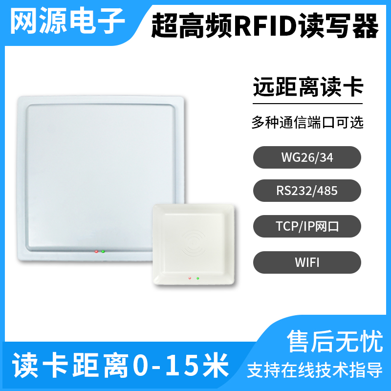 UHF UHF RFID Reader Long Distance Parking Industrial Access Card Reader 915M Electronic Tag Reader Air Conditioner Parts     - title=