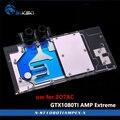 BYKSKI водный блок для ZOTAC GTX1080TI AMP Extreme Edition/AMP Core Edition/ZT-P10810D-10 Full Cover GPU радиаторный блок RGB