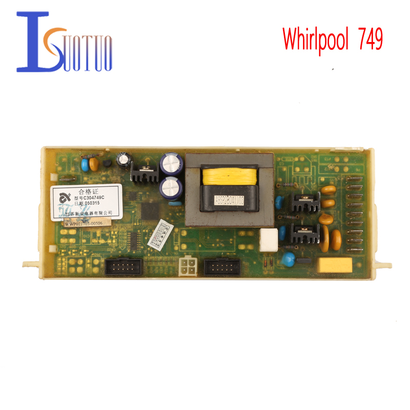 Whirlpool Washing Machine Computer Board 749 Motherboard Square Button Brand New Spot Commodity original whirlpool washing machine motherboard 4805 a06 new spot commodity